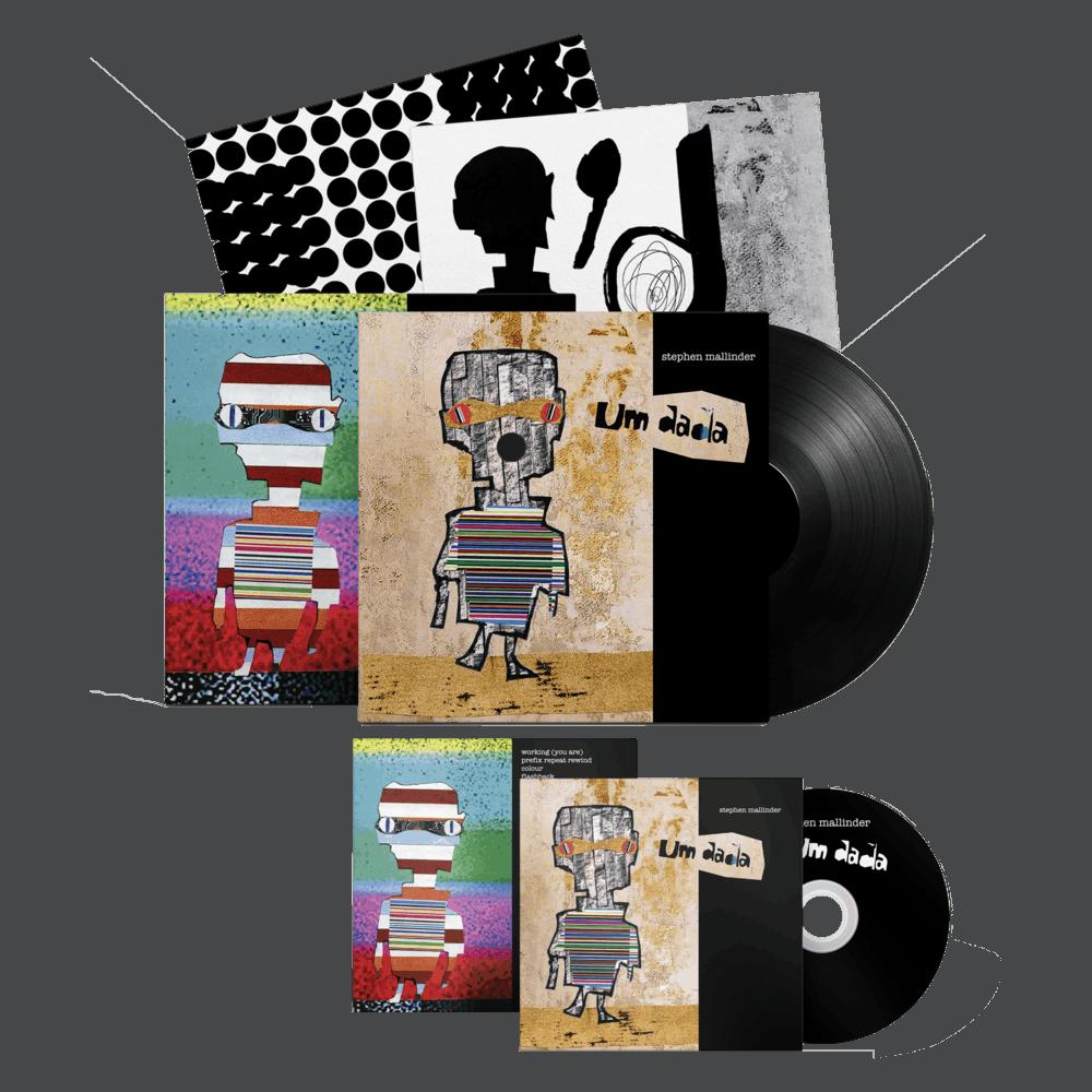 Buy Online Stephen Mallinder - Um Dada CD + Black Vinyl (Signed)