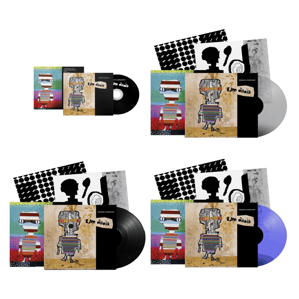 Buy Online Stephen Mallinder - Um Dada CD + Clear Ltd Edition Vinyl + Blue/Clear Ltd Edition Vinyl + Black Vinyl (Signed)