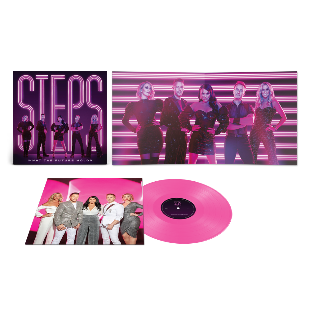 Buy Online Steps - What The Future Holds Transparent Pink Vinyl (Ltd Edition, Exclusive) w/ Free Bonus Badge Set