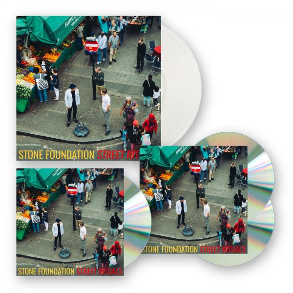 Buy Online Stone Foundation - Street Rituals Clear Vinyl LP (Ltd Edition) + CD/DVD+ CD + Three Prints