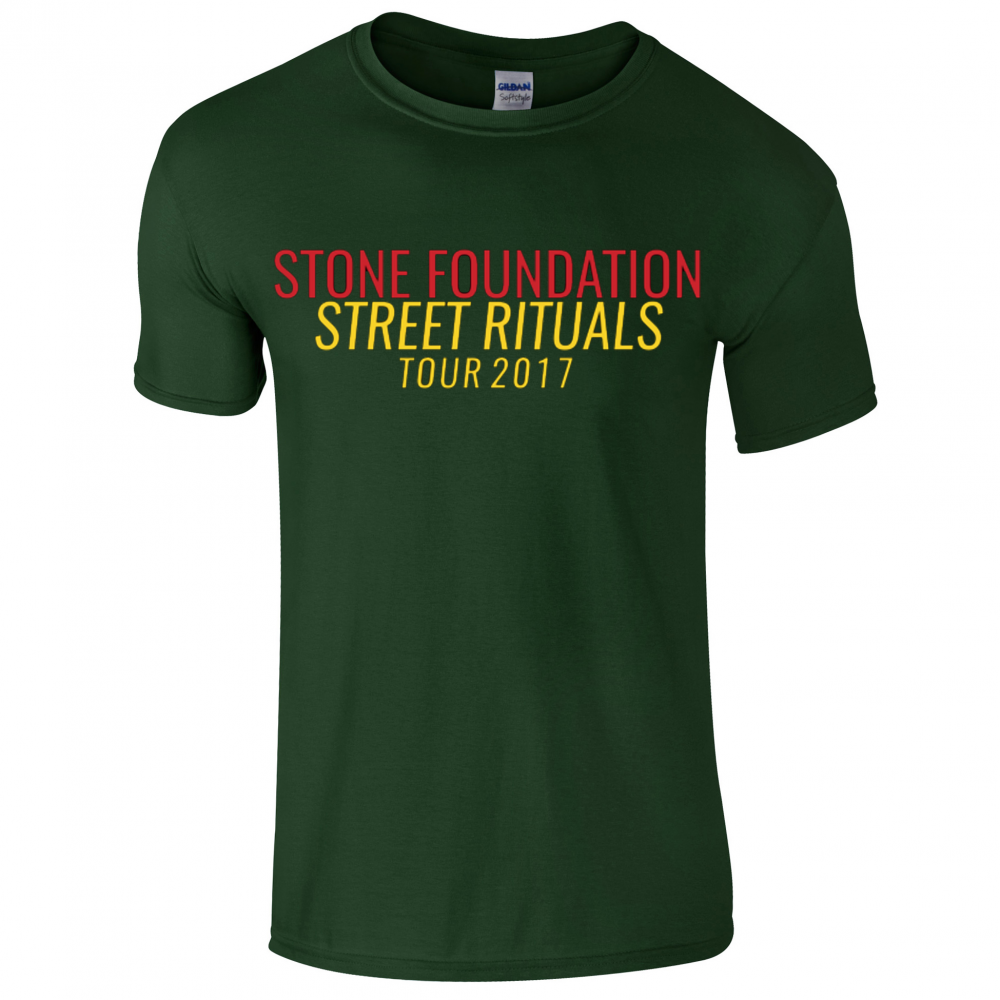Buy Online Stone Foundation - Green Street Rituals Tour 2017 T-Shirt