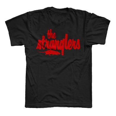 Buy Online Stranglers - Classic Red Logo T-Shirt Black