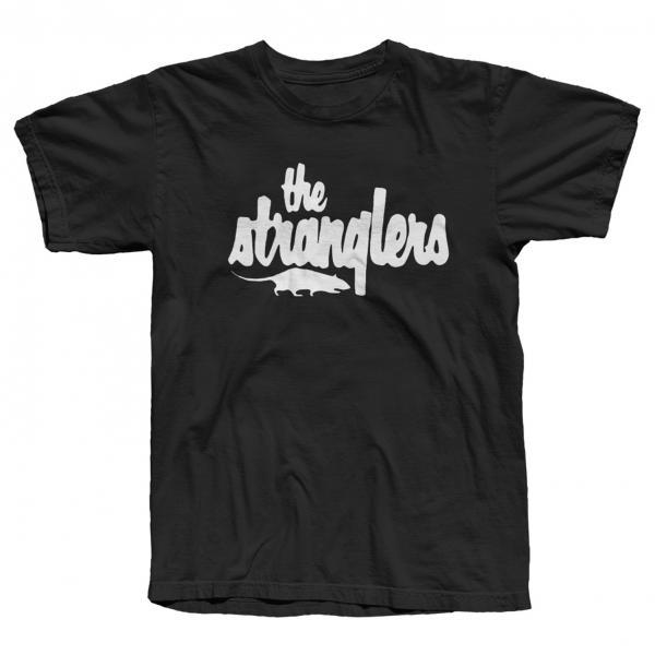 Buy Online Stranglers - Classic White Rat Logo T-Shirt