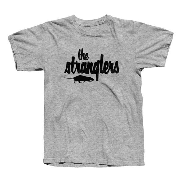 Buy Online Stranglers - Grey Classic Logo T-Shirt