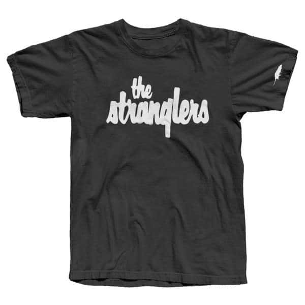 Buy Online Stranglers - Classic White Logo With Sleeve Print T-Shirt