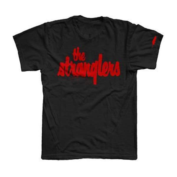 Buy Online Stranglers - Classic Red Logo With Sleeve Print T-Shirt