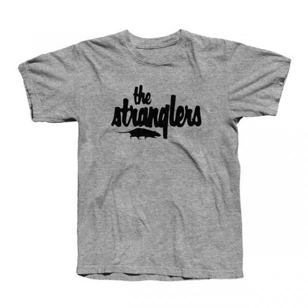 Buy Online Stranglers - Classic Rat Logo Grey T-Shirt