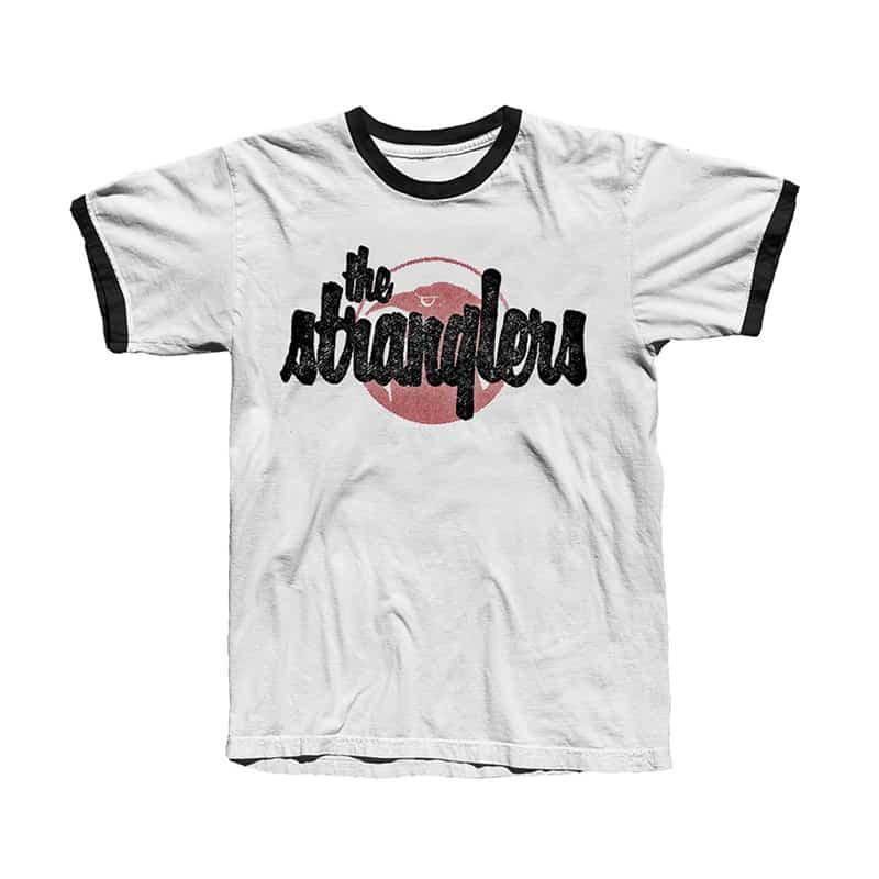 Buy Online Stranglers - White Ringer Logo & Raven T-Shirt
