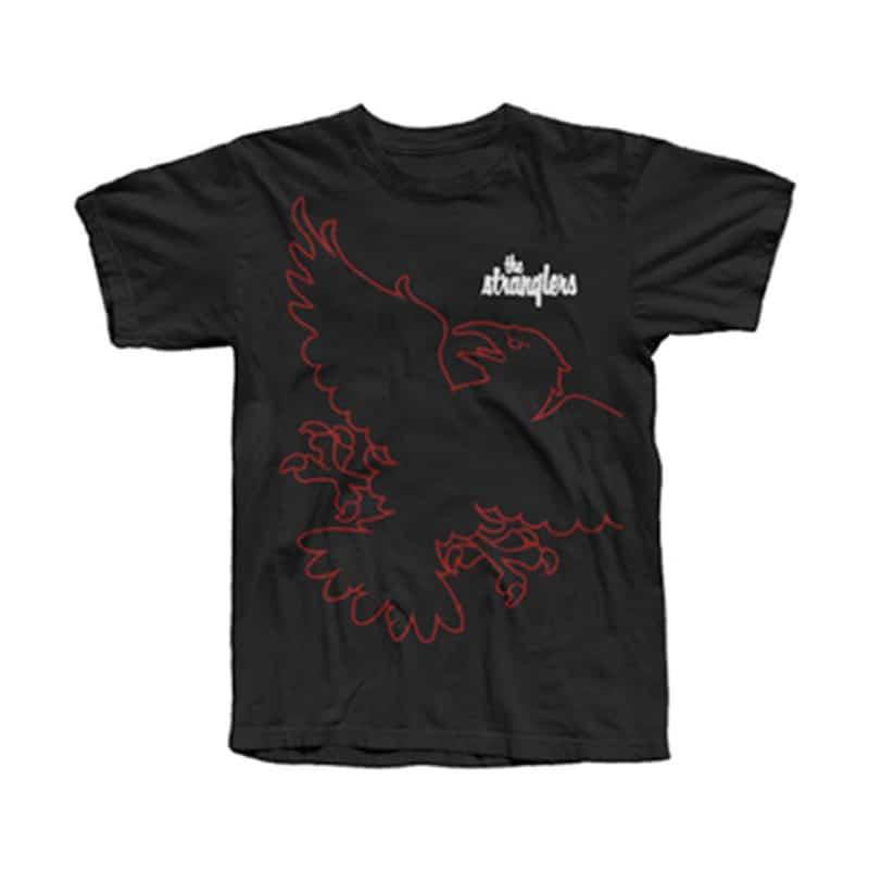 Buy Online Stranglers - Black Wraparound Raven T-Shirt
