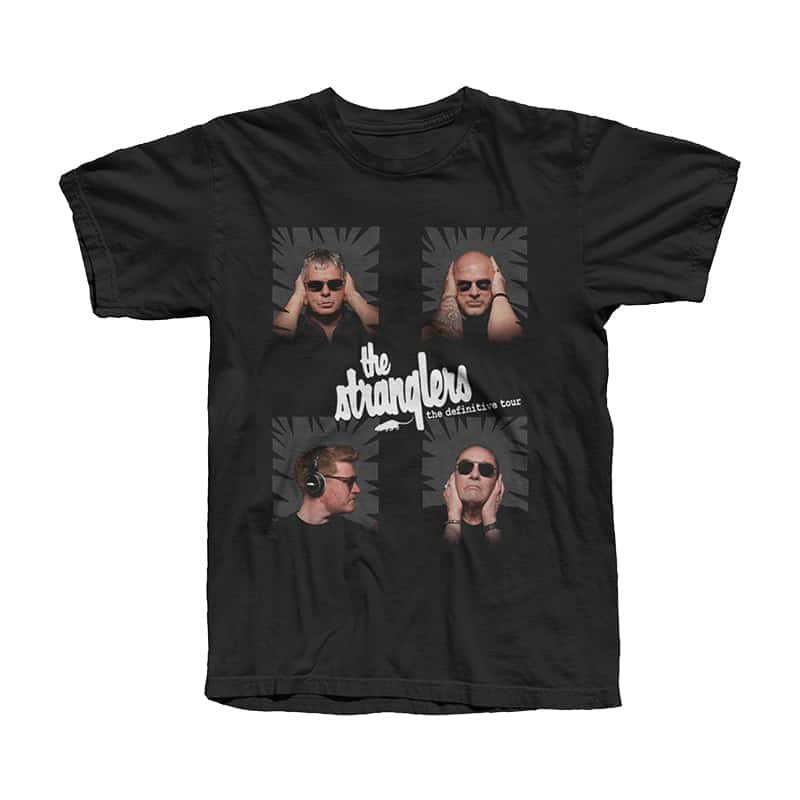 Buy Online Stranglers - White Logo Square Photo Tour T-Shirt