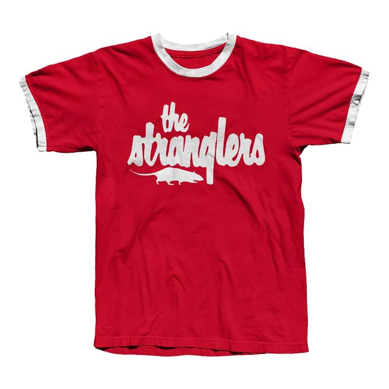 Buy Online Stranglers - Red Logo Ringer T-Shirt