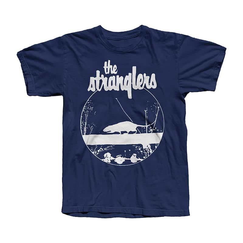 Buy Online Stranglers - Navy Blue Rattus T-Shirt