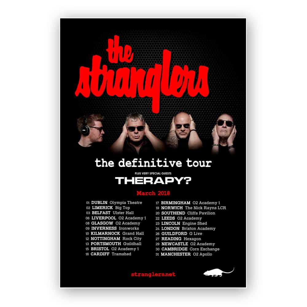 Buy Online Stranglers - The Definitive Tour Poster