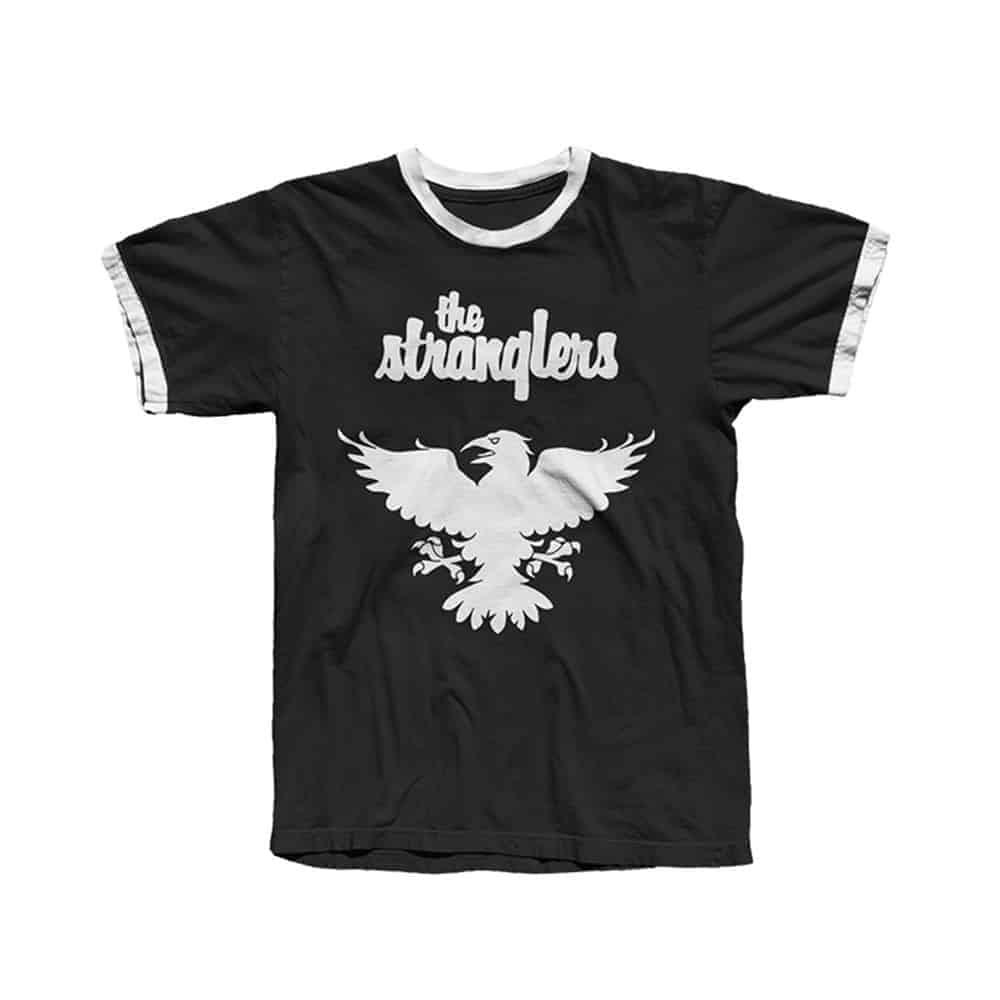 Buy Online Stranglers - Black Raven Ringer T-Shirt