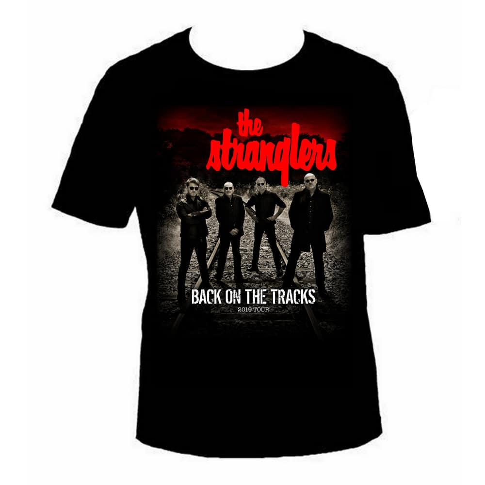 Buy Online Stranglers - Back On The Tracks Photo T-Shirt (with Dates)