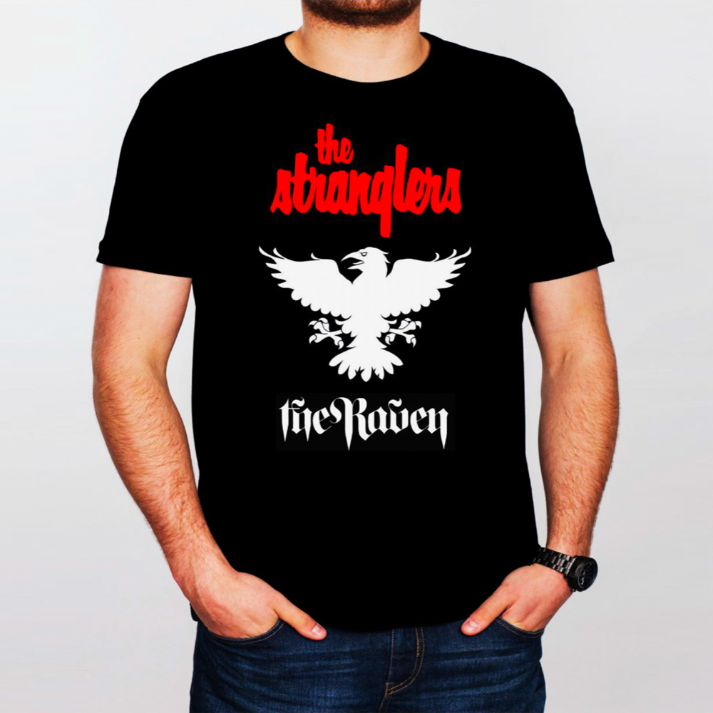 Buy Online Stranglers - The Stranglers Logo Raven T-Shirt