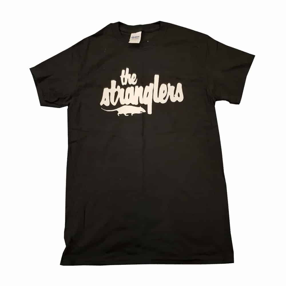Buy Online Stranglers - Black With White Rat Logo T-Shirt