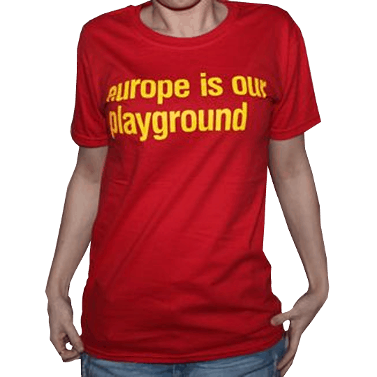 Buy Online Suede - Ladies Red Suede Euro Tour T-Shirt