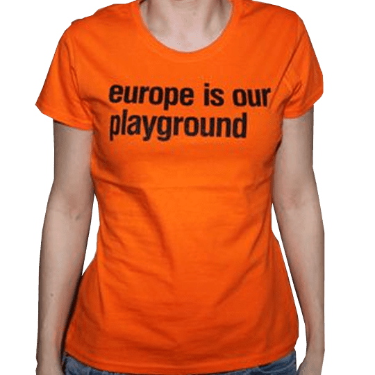Buy Online Suede - Ladies Orange Suede Euro Tour T-Shirt