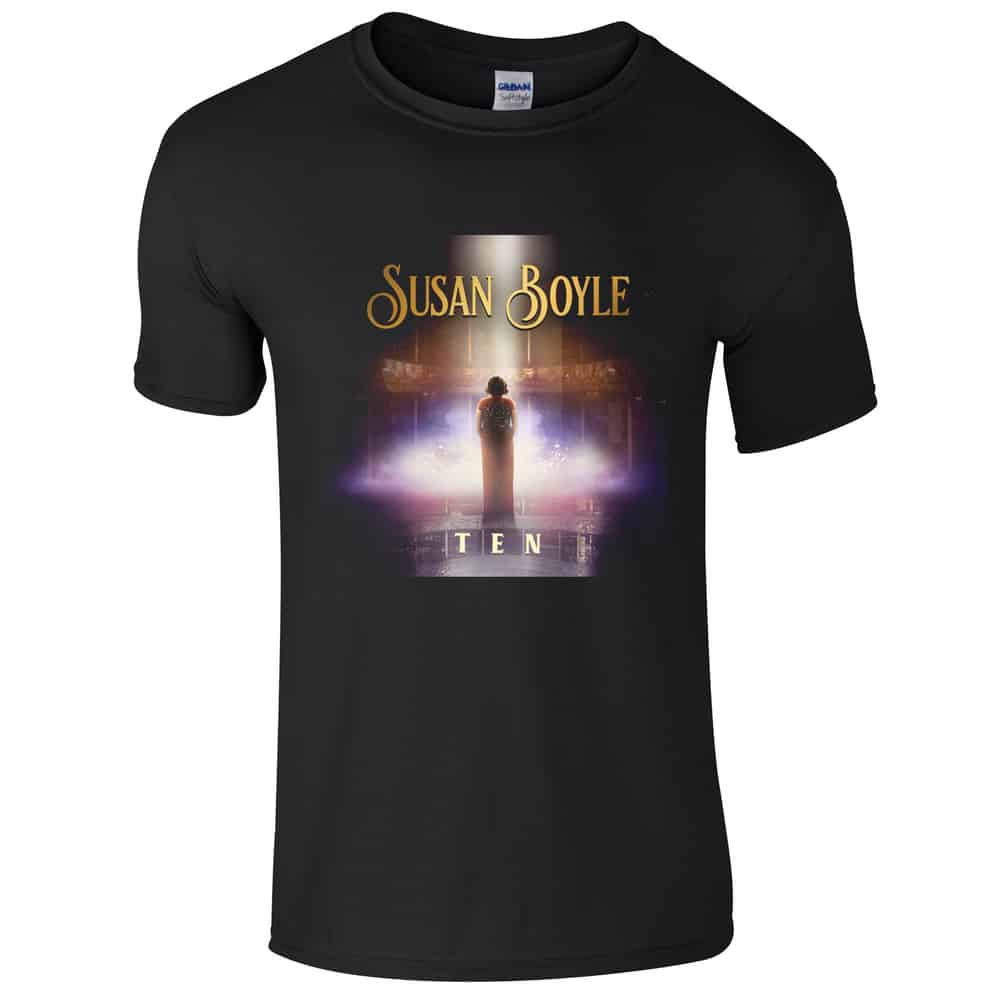 Buy Online Susan Boyle - Black Ten T-Shirt