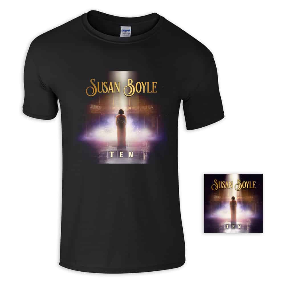 Buy Online Susan Boyle - T-Shirt + CD Bundle