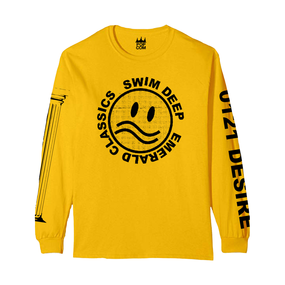 Buy Online Swim Deep - Yellow Logo Long Sleeve T-Shirt