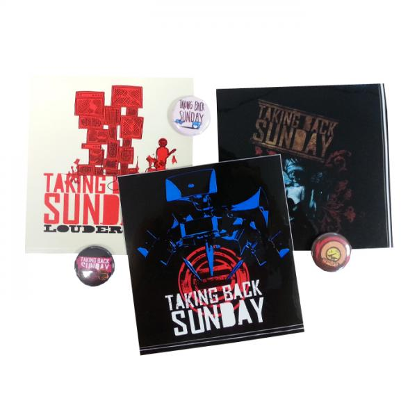 Buy Online Taking Back Sunday - Sticker & Badge Set