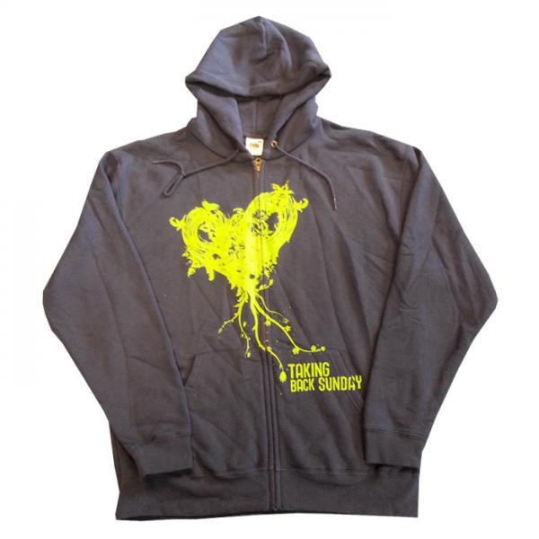 Buy Online Taking Back Sunday - Heart Full Zip Hoody