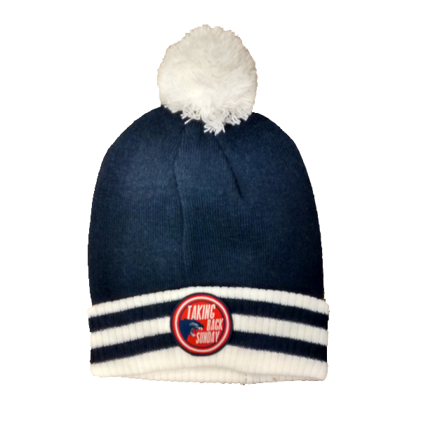 Buy Online Taking Back Sunday - Striped Bobble Hat