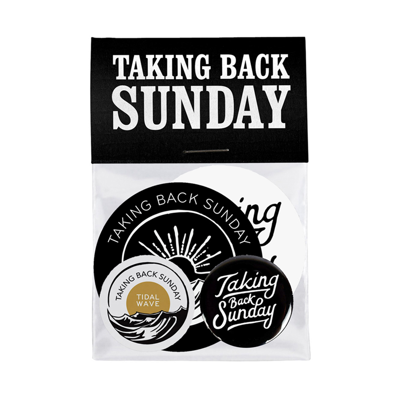Buy Online Taking Back Sunday - Tidal Wave Button Badge + Sticker Set