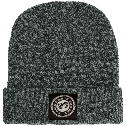 Buy Online Taking Back Sunday - Antique Grey Woven Label Beanie