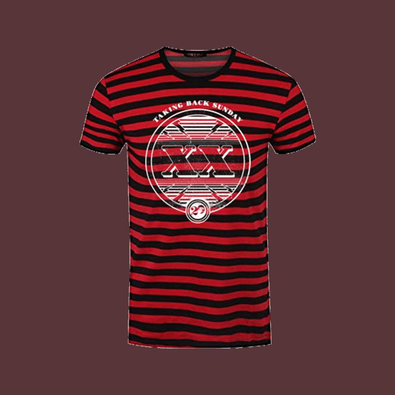 Buy Online Taking Back Sunday - Black/Red XX T-Shirt