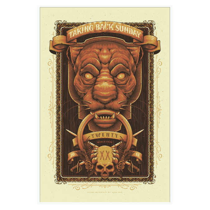 Buy Online Taking Back Sunday - Screen Printed Poster
