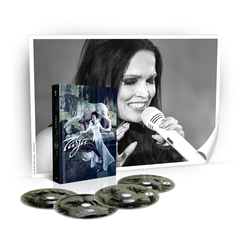 Buy Online Tarja - Act II 2 CD + 2 Blu-Ray Mediabook + Signed London Poster