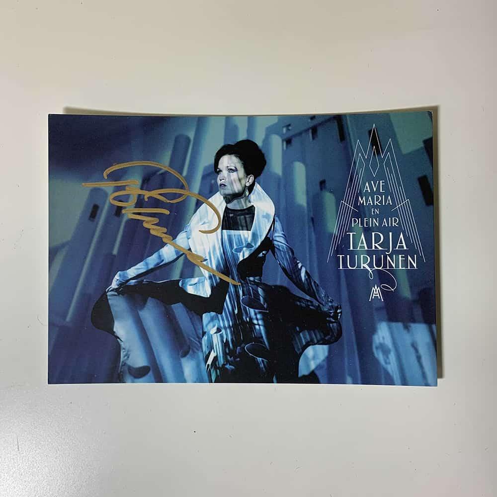 Buy Online Tarja - Ave Maria Postcard (Signed)