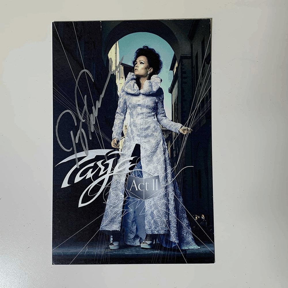 Buy Online Tarja - Act II Postcard (Signed)
