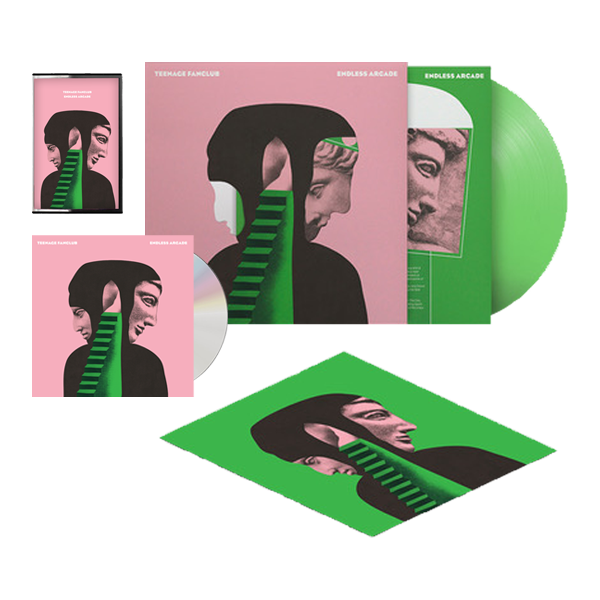 Buy Online Teenage Fanclub - Endless Arcade Translucent Green Vinyl (Ltd Edition, Die Cut Sleeve) + 12 x 12 Inch Print (Signed) + CD (Signed) + Cassette