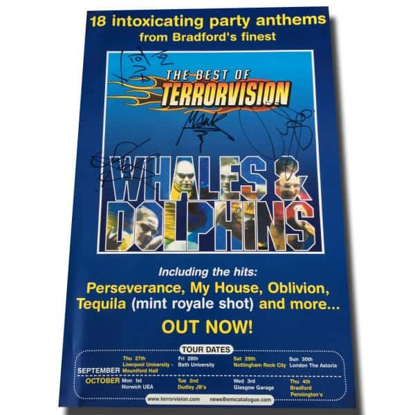 Buy Online Terrorvision - 2001 Whales & Dolphins The Best Of Signed Promo Poster