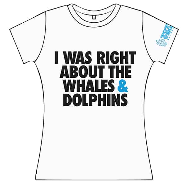 Buy Online Terrorvision - Whales & Dolphins Ladies Fitted T-Shirt