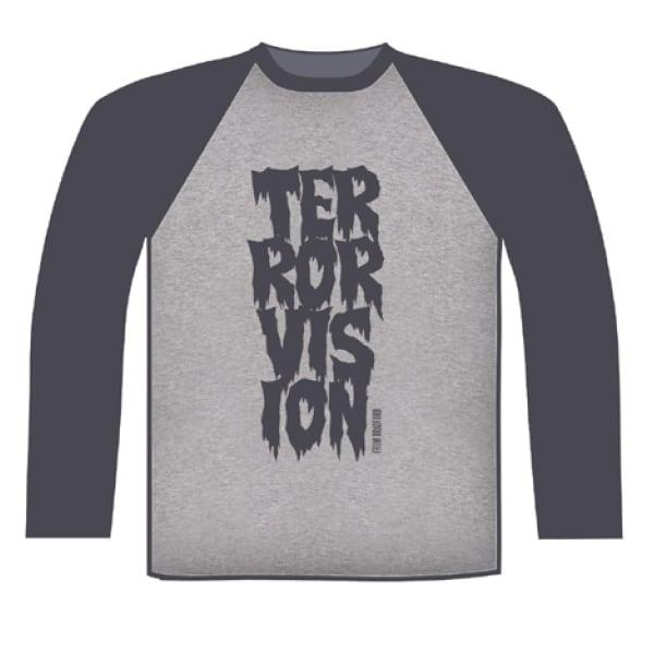 Buy Online Terrorvision - Baseball Grey/Dark Grey Baseball T-Shirt
