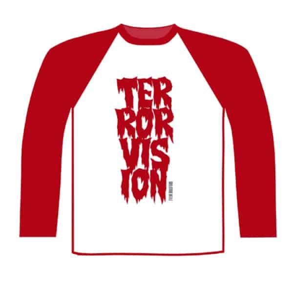 Buy Online Terrorvision - Baseball Red/White Baseball T-Shirt