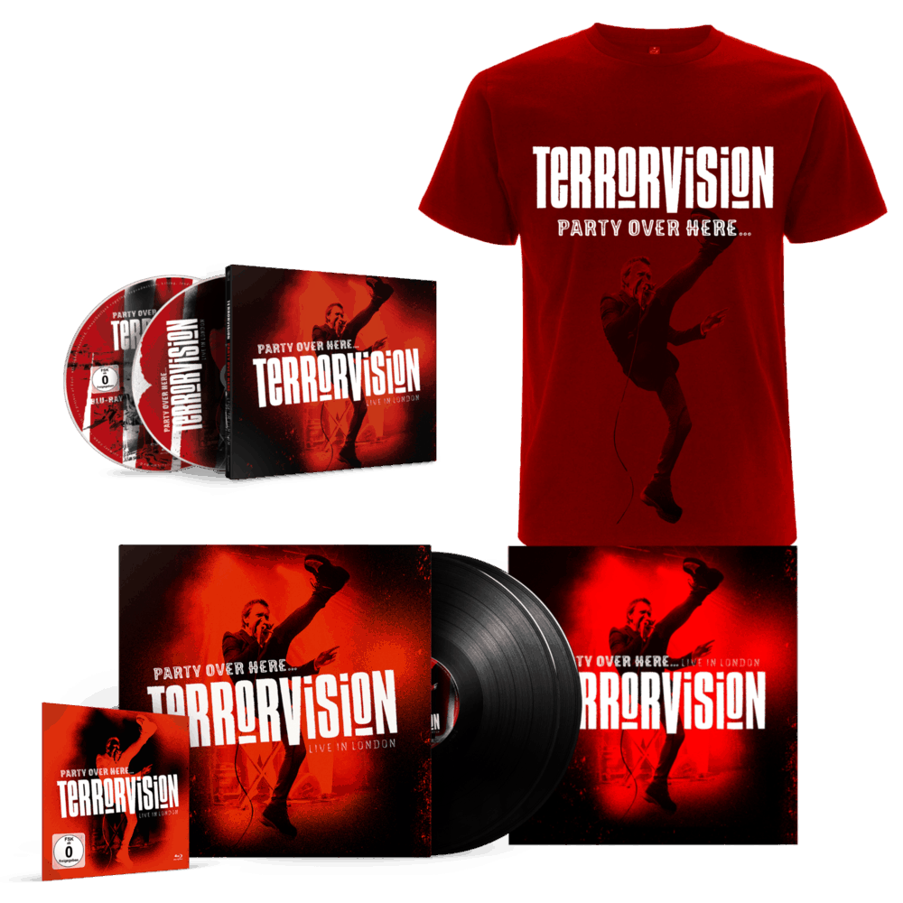 Buy Online Terrorvision - Party Over Here... Live In London CD + Blu-ray + 2Vinyl + Poster + T-Shirt