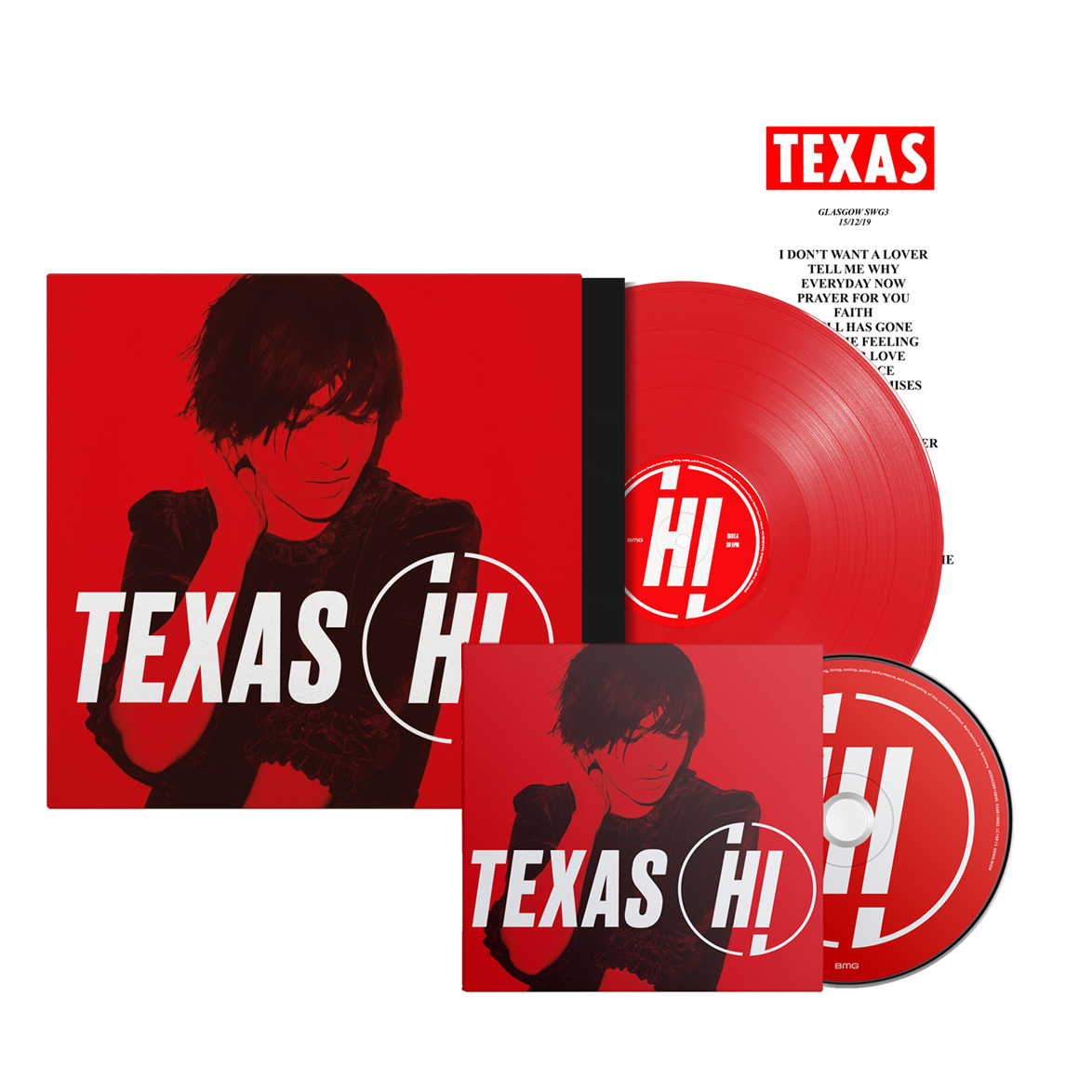 Buy Online Texas - Hi CD + Coloured Vinyl + Set List (Signed)