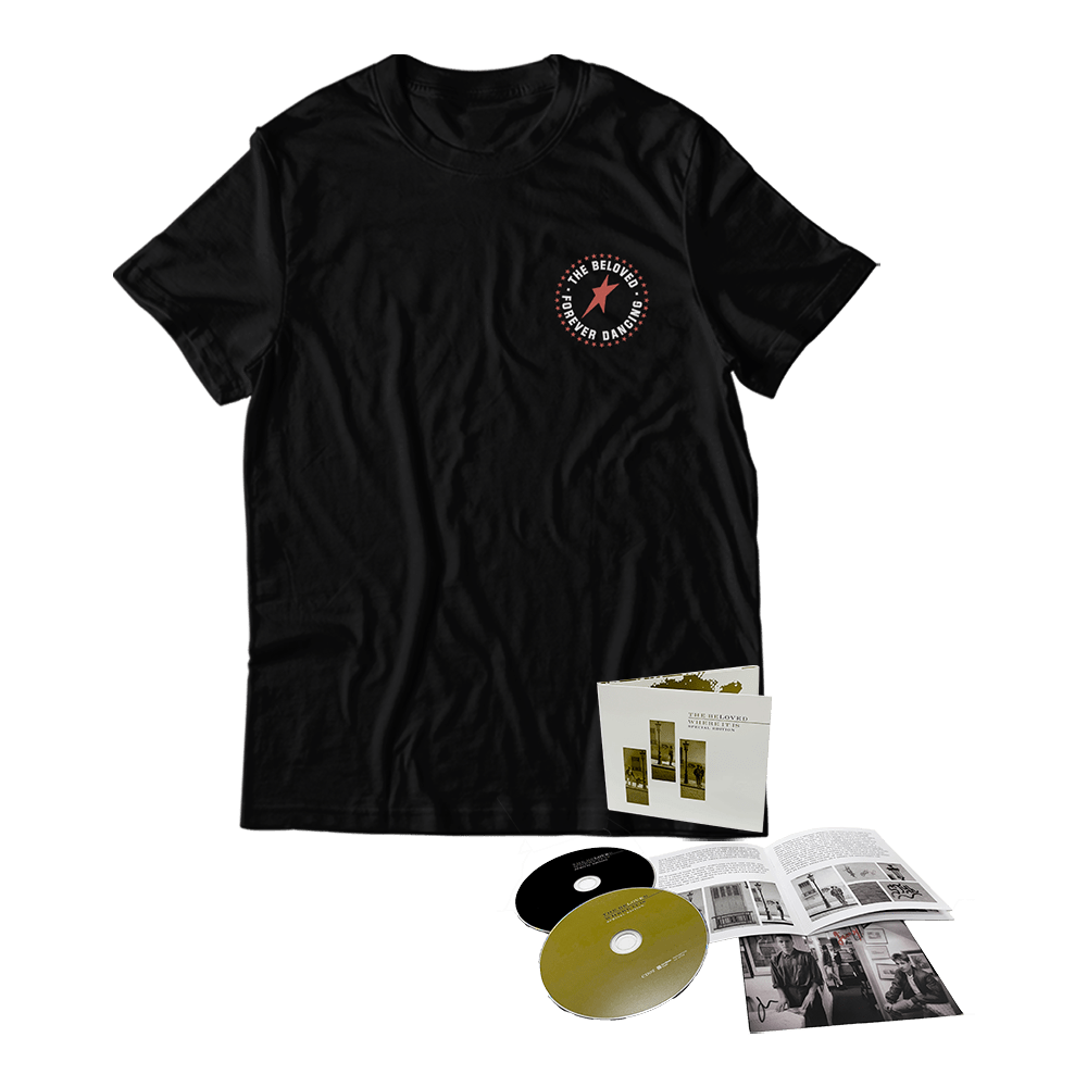 Buy Online The Beloved - Black Chest Print T-Shirt + Where It Is Double CD + Signed Postcard