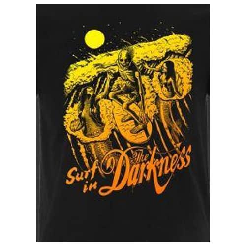 Buy Online The Darkness - Skeleton Surfer T-Shirt