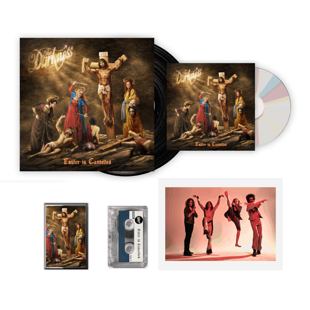 Buy Online The Darkness - Easter Is Cancelled Deluxe CD + Vinyl + Cassette + Signed Band Photograph