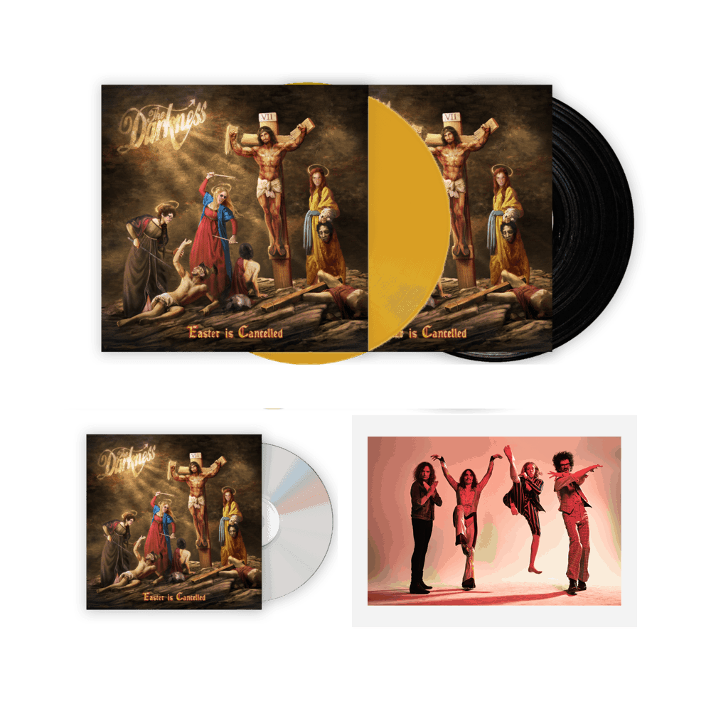 Buy Online The Darkness - Easter Is Cancelled Deluxe CD + Vinyl + Coloured Vinyl + Signed Band Photograph