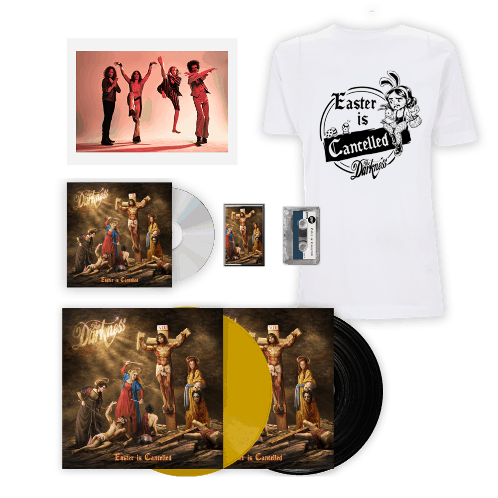Buy Online The Darkness - Easter Is Cancelled Deluxe Album + T-Shirt