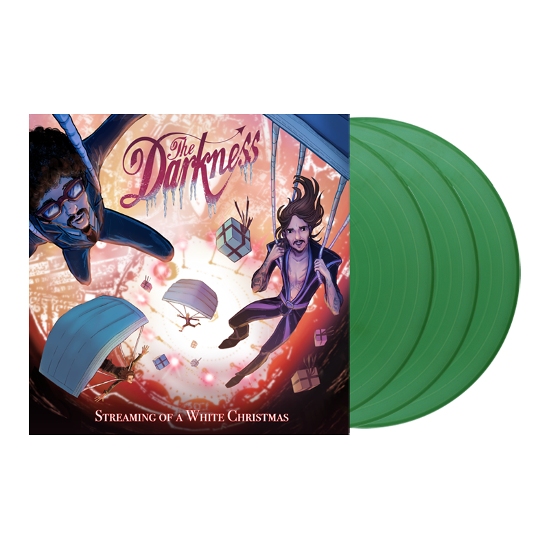 Buy Online The Darkness - Streaming Of A White Christmas Triple Sparkle Green Vinyl