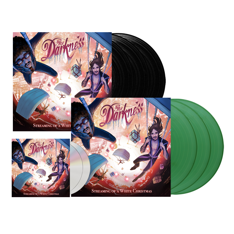 Buy Online The Darkness - Streaming Of A White Christmas 2CD + Triple Sparkle Green Vinyl + Triple Vinyl